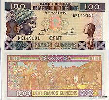 GUINEE billet neuf de 100 FRANCS RECOLTE DES BANANES Pick35 JEUNE FEMME 1998
