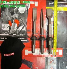 """HILTI CHISEL SET Narrow/Wide/Pointed CHISEL (1-1/4""""x14) (2""""x14"""") FAST SHIPPING"""