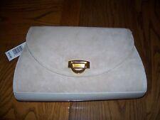 New Tan Shoulder Strap Handbag Purse Medium Flap Closure
