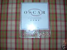 NEW OSCAR DE LA RENTA LOIRE VALLEY  GREEN PLAID KING BED SKIRT