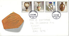 13 OCTOBER 1987 STUDIO POTTERY ROYAL MAIL FIRST DAY COVER KINGSTON U THAMES FDI