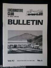 LCGB - LOCOMOTIVE CLUB OF GREAT BRITAIN BULLETIN - JUNE 27 1990