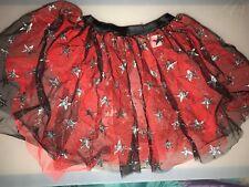 Ref Stars (silver stars) -Girls Orange Tutu Skirt Hen Night/Party/Halloween 6-16