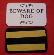 BEWARE OF DOG SIGN Engraved Plaque Home/Door Business YOU CHOOSE YOUR COLOR
