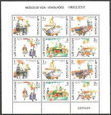 Macau - Lebensweisen Straßenhändler Kleinbogen postfrisch 1998 Mi. 948-953