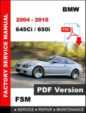 BMW 2004 2005 2006 2007 2008 2009 2010 645Ci 650i FACTORY WORKSHOP MANUAL