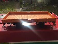 LGB  4010!Spur G Niederbordwagen Flachwagen orange !