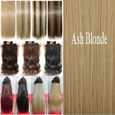 Professional New Thick 3/4 Full Head Clip In Hair Extensions Real As Human PN9