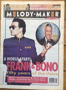 Melody Maker 20/11/93 Bono & Frank Sinatra cover, Underworld, Archers Of Loaf