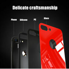 9H Tempered Glass Bumper Scratch-Resistant Cover Case For iPhone 7 8 Plus XS MAX