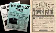 Back To The Future Save The Clock Tower Flier & Hill Valley Fair Set > Replica