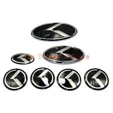7pcs Kit Grille Trunk Wheel Rim 3D K Speed Emblem Badge for Kia K5 Optima 11-15