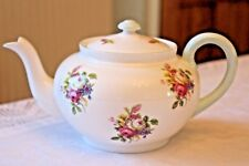 SHELLEY Vintage Bone China TEAPOT Pink Rose Mint Green FULL SIZE Excellent