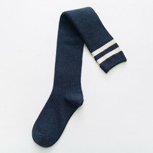 Women Cotton Over Knee Thigh-High Thick Boot Stripe Socks Warm Winter New
