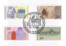 BRD 1975: Alsfeld Rothenburg Trier Xanten Nr 860-863 mit Bonner Stempel! 1A! 155