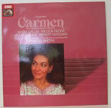 "BIZET CARMEN CALLAS GEDDA GUIOT MASSARD GEORGES PRETRE 12"" LP (e69)"