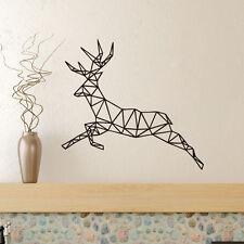 Deer Geometric Wall Decal Reindeer Christmas Sticker Home Decor Living Room
