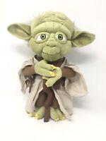 "Disney Store Original Star Wars Yoda Plush Toy Doll Stuffed Figure 12"""
