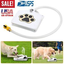"""Trouble-Free Dog Pet Drinking Doggie Activated Water Fountain 41"""" Hose Outdoor"""