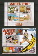 Mosambik / Mocambique ** Gemälde , Kunst / Pop Art (2011) Warhol Lichtenstein