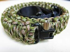 Paracord 550 Rifle Shotgun Gun Sling Adjustable Swivels Green Camouflage a F01
