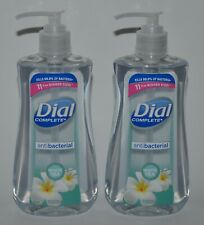 2 DIAL COMPLETE WHITE TEA LIQUID HAND SOAP WASH 11OZ PUMP ANTI BAC LARGE PUMP