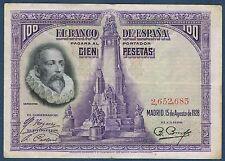 BILLET de BANQUE D'ESPAGNE 100 PESETAS Pick n° 76 du 15-8-1928 en TTB 2,652,683