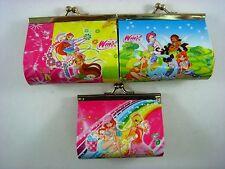 NEW Winx Club Girl Kids Girls Children Coins Purse Money Pouch Bag + Pendant