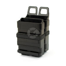 Black Airsoft Rifle Mag Magazine Pouch Double Fast Attach Molle System Holder