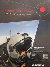 11/2011 PUB MBDA MISSILE SYSTEMS PILOT CASQUE HELMET ASRAAM MICA ORIGINAL AD