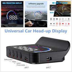 Car Head-up Display Hidden OBD HUD LED Speed Alarm Voltage Driving Reminder Kit