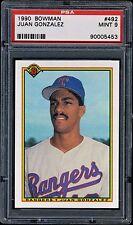 1990 Bowman Juan Gonzalez RC  #492  PSA 9  MINT   Rangers