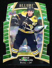 2019-20 Upper Deck Allure Brad Marchand Die Cut Green Quartz 51/99