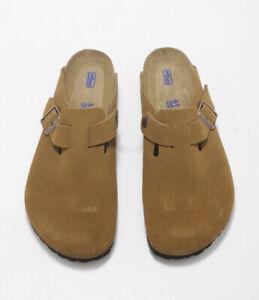 Birkenstock Boston BS Mink Unisex Slide Sandals 1009542 Free FedEx Shipping