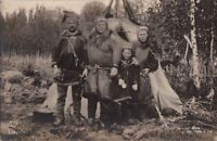Postcard RPC Norway Family Traditional Dress Lappeleir