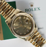 Rolex Champagne 36mm Presidential Solid 18K Yellow Gold Diamond 6+9  Watch