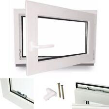 Kellerfenster Kunststoff Fenster Garagenfenster Dreh Kipp 2 fach verglast weiß