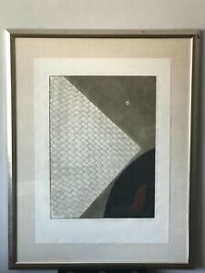 ARTHUR LUIZ PIZA LIMITED EDITION AQUATINT ETCHING 58/99 MODERN ABSTRACT PAINTING