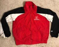 Nebraska Cornhuskers VINTAGE 90's Logo Athletic Windbreaker Jacket Men's Large