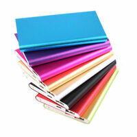 Colors 5000mAh External Battery Charger Aluminum Power Bank Case for Cell Phone