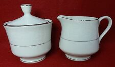 CHADDS FORD china QUEENS LACE pattern Creamer & Sugar Bowl with Lid SET
