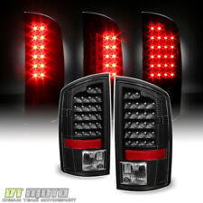 Blk 2002-2006 Dodge Ram 1500 2500 3500 Led Tail Lights Rear Brake Lamps Pair Set
