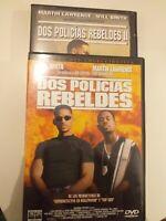 DVD  lote Dos policias rebeldes 1 y 2 Con martin Laurence y will smith