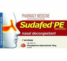 ~ SUDAFED PE SINUS AND NASAL DECONGESTANT 48 TABLETS