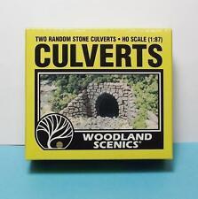 HO Scale-Woodland Scenics-C1264-Random Stone Culverts & Sidewalls-2 Pieces