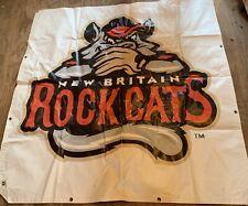New Britain Rock Cats Stadium Banner 5x5 Ft Minor League Baseball Rocky Mascot