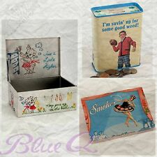 Blue Q Tins ❤️ Collectible! ❤️ All Retired! ❤️ Unique Gift! ❤️ Ships Free in US