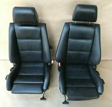 1985 - 1991 BMW E30 318i 325i Convertible / Coupe Recaro Sport Front Seats Black