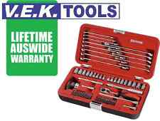 SIDCHROME Tools 57pc Metric & imperial Socket Set Tool Kit-Lifetime Aus Wrnty sp