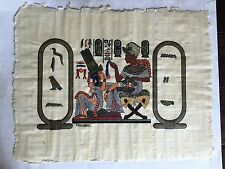 """Two Hand Painted Real Papyrus - 14"""" x 17 1/2"""". By Ani Papyrus, Egypt. Beautiful!"""